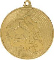 MMC9750/G - Medaila futbal (pr.50 mm, hr.2 mm) zlato