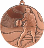 MMC2150/B - Medaila basketbal (pr.50 mm, hr.3 mm) bronz